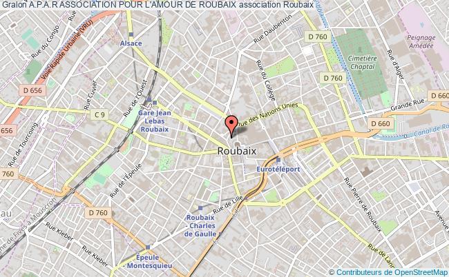 plan association A.p.a.r Association Pour L'amour De Roubaix Roubaix