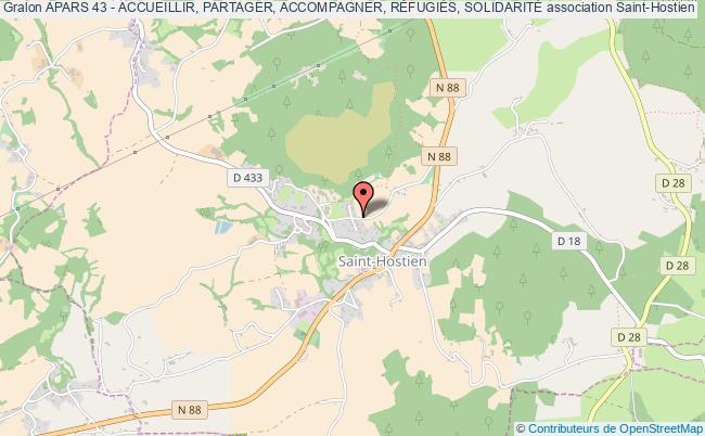 plan association Apars 43 - Accueillir, Partager, Accompagner, RÉfugiÉs, SolidaritÉ Saint-Hostien