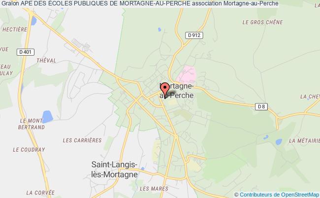 plan association Ape Des Écoles Publiques De Mortagne-au-perche