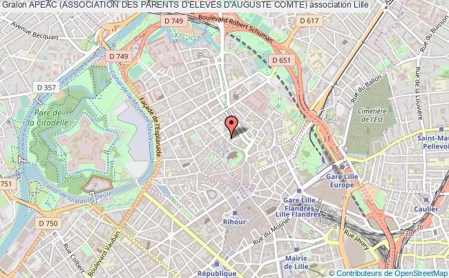 plan association Apeac (association Des Parents D'eleves D'auguste Comte)