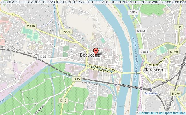 plan association Apei De Beaucaire Association De Parent D'eleves Independant De Beaucaire