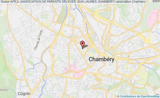 plan association Apejj (association De Parents D'eleves Jean Jaures Chambery)