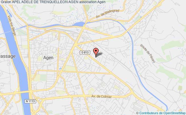 plan association Apel Adele De Trenquelleon Agen