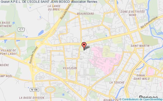 plan association A.p.e.l. De L'ecole Saint Jean Bosco
