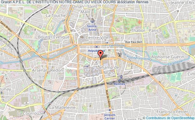 plan association A.p.e.l. De L'institution Notre-dame Du Vieux Cours
