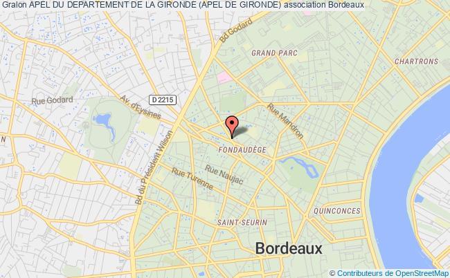 plan association Apel Du Departement De La Gironde (apel De Gironde) Bordeaux