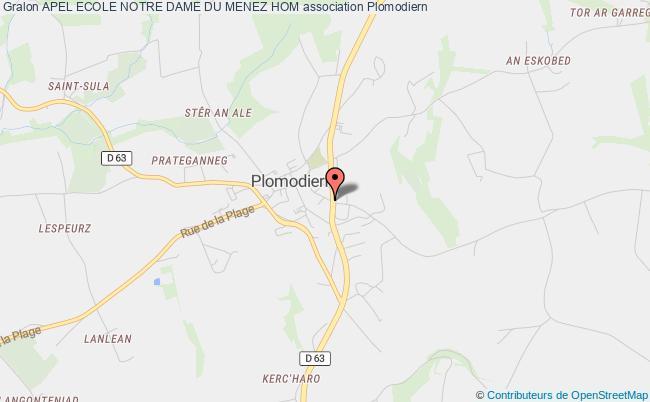 plan association Apel Ecole Notre Dame Du Menez Hom