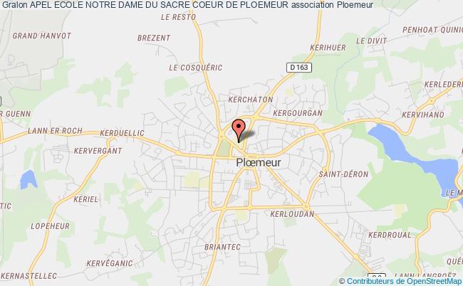plan association Apel Ecole Notre Dame Du Sacre Coeur De Ploemeur