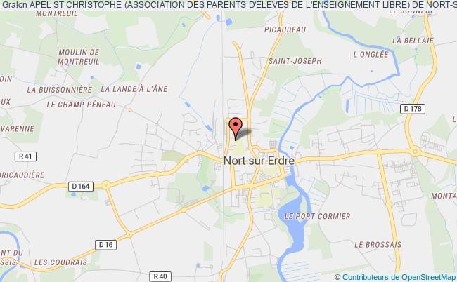 plan association Apel St Christophe (association Des Parents D'eleves De L'enseignement Libre) De Nort-sur-erdre