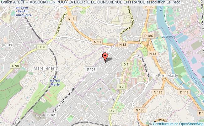 plan association Aplcf -  Association Pour La Liberte De Conscience En France Le Pecq