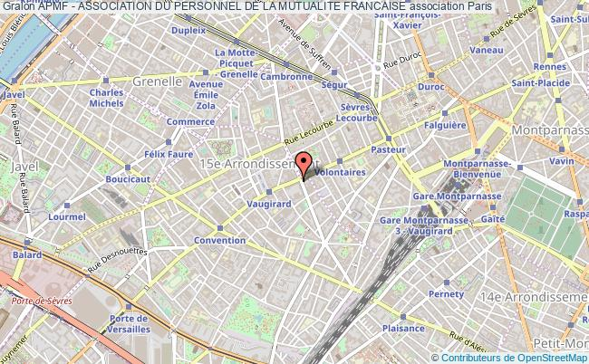 plan association Apmf - Association Du Personnel De La Mutualite Francaise Paris