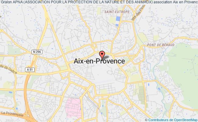 plan association Apna (association Pour La Protection De La Nature Et Des Animaux)