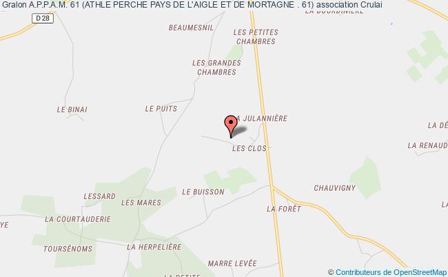 plan association A.p.p.a.m. 61 (athle Perche Pays De L'aigle Et De Mortagne . 61)