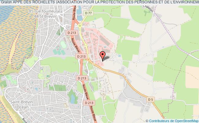 plan association Appe Des Rochelets (association Pour La Protection Des Personnes Et De L'environnement Des Rochelets)