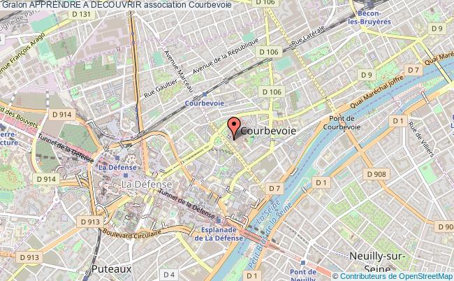 plan association Apprendre A Decouvrir Courbevoie