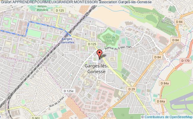 plan association Apprendrepourmieuxgrandir:montessori Garges-lès-Gonesse