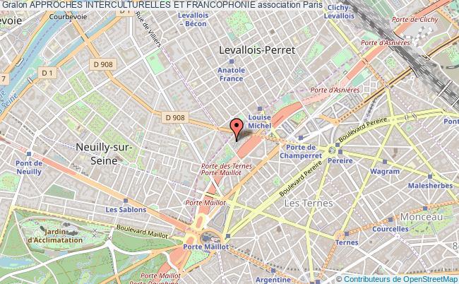 plan association Approches Interculturelles Et Francophonie Paris