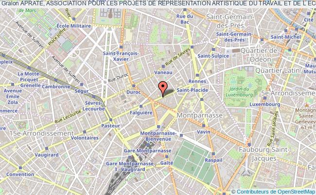 plan association Aprate, Association Pour Les Projets De Representation Artistique Du Travail Et De L Economie Paris 6e