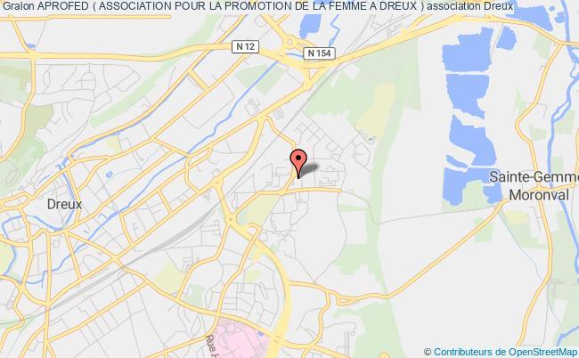 plan association Aprofed ( Association Pour La Promotion De La Femme A Dreux )