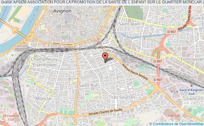 plan association Apsem Association Pour La Promotion De La Sante De L Enfant Sur Le Quartier Monclar