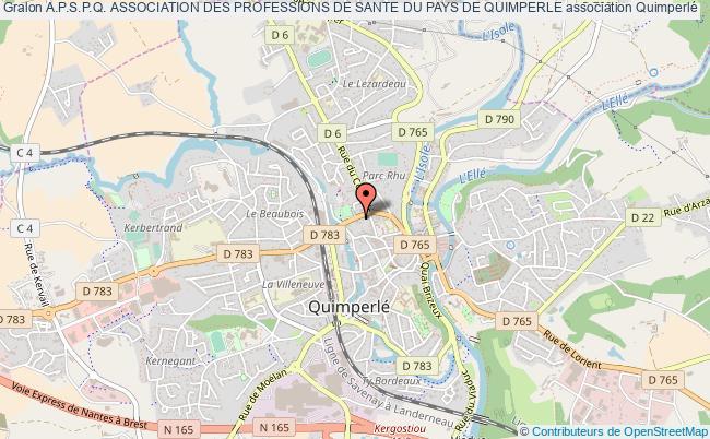 plan association A.p.s.p.q. Association Des Professions De Sante Du Pays De Quimperle