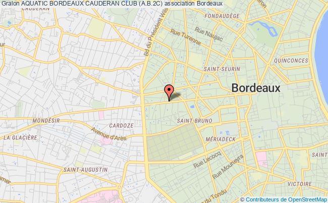 plan association Aquatic Bordeaux Cauderan Club (a.b.2c) Bordeaux