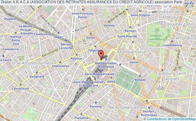 plan association A.r.a.c.a (association Des RetraitÉs Assurances Du Credit Agricole)