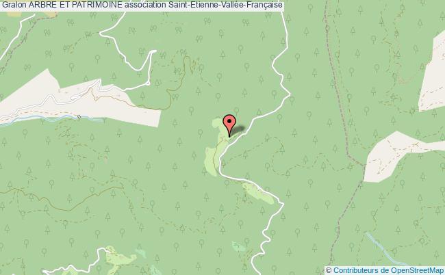 plan association Arbre Et Patrimoine Saint-Étienne-Vallée-Française