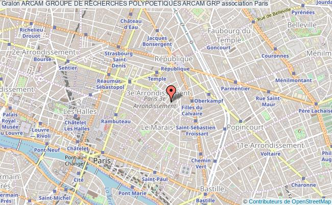 plan association Arcam Groupe De Recherches Polypoetiques Arcam Grp