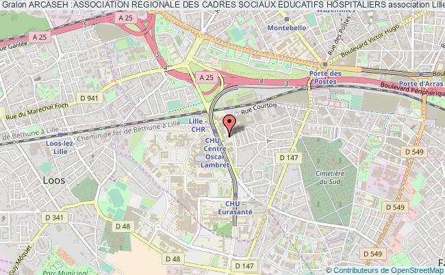 plan association Arcaseh :association RÉgionale Des Cadres Sociaux Éducatifs Hospitaliers Lille