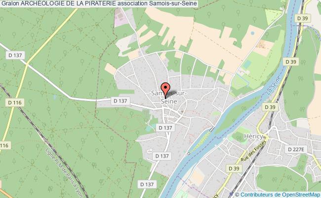 plan association ArchÉologie De La Piraterie Samois-sur-Seine