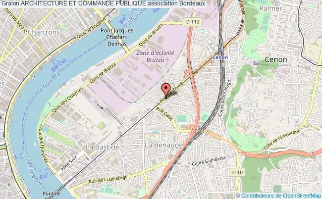 plan association Architecture Et Commande Publique Bordeaux