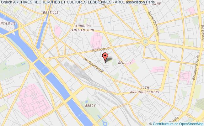 plan association Archives Recherches Et Cultures Lesbiennes - Arcl Paris