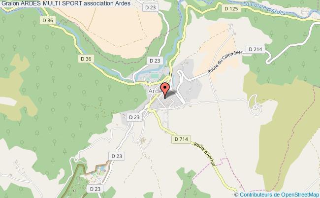 plan association Ardes Multi Sport Ardes