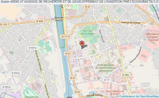 plan association Ardie 47 (agence De Recherche Et De Developpement De L'insertion Par L'economie Du Lot Et Garonne )