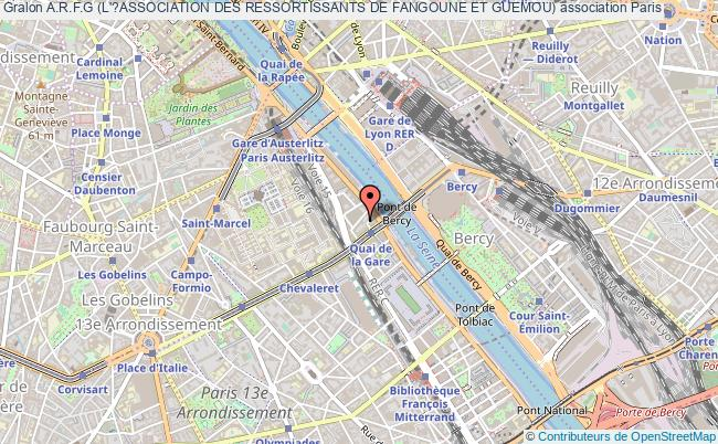 plan association A.r.f.g (l'?association Des Ressortissants De Fangoune Et Guemou) Paris