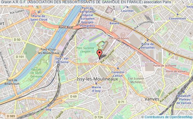 plan association A.r.g.f. (association Des Ressortissants De Ganhoue En France)