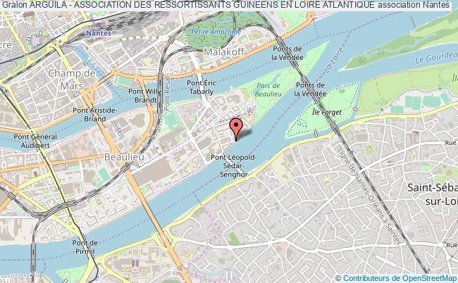 plan association Arguila - Association Des Ressortissants Guineens En Loire Atlantique