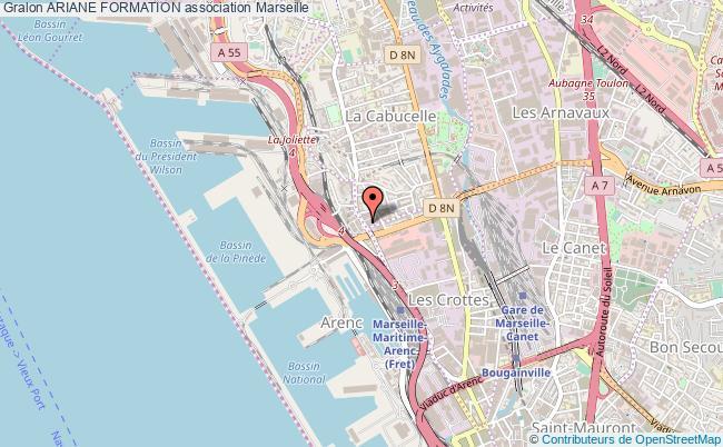 plan association Ariane Formation Marseille
