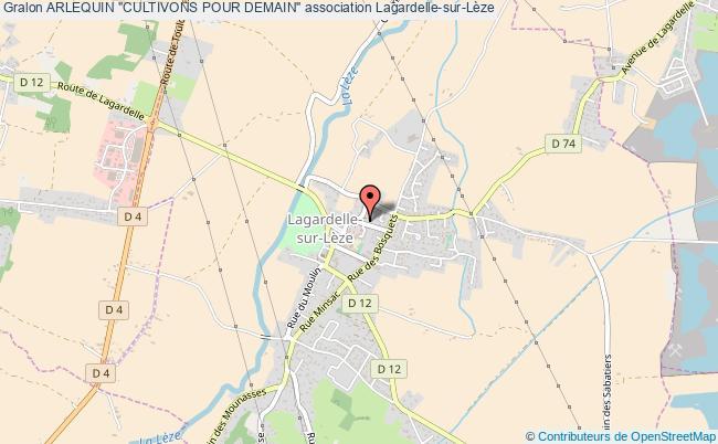"""plan association Arlequin """"cultivons Pour Demain"""" Lagardelle-sur-Lèze"""