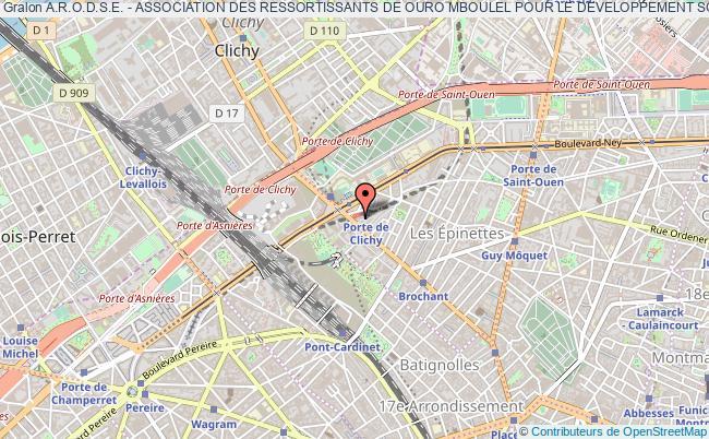 plan association A.r.o.d.s.e. - Association Des Ressortissants De Ouro Mboulel Pour Le Developpement Social Et Economique Paris