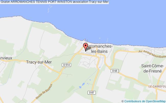 plan association Arromanches Tennis Port Winston Tracy-sur-Mer