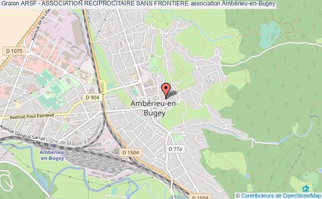 plan association Arsf - Association Reciprocitaire Sans Frontiere Ambérieu-en-Bugey