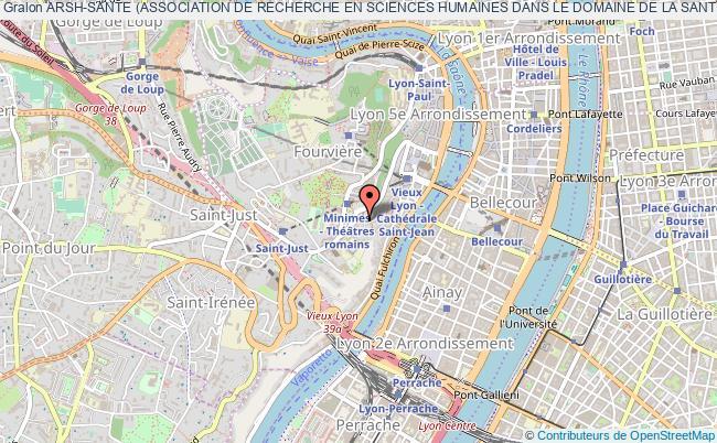 plan association Arsh-sante (association De Recherche En Sciences Humaines Dans Le Domaine De La Sante)