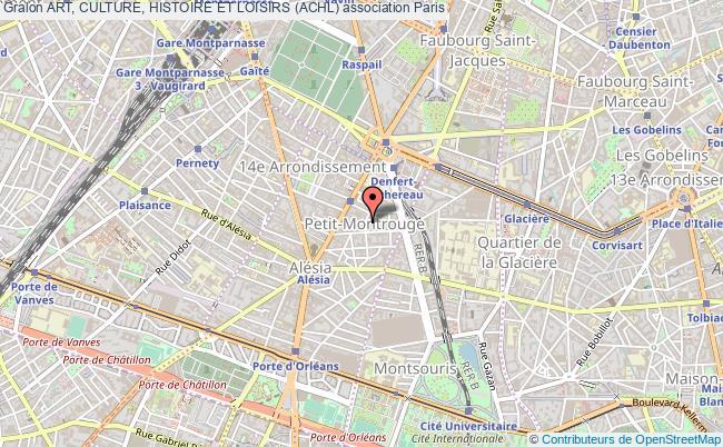 plan association Art, Culture, Histoire Et Loisirs (achl)