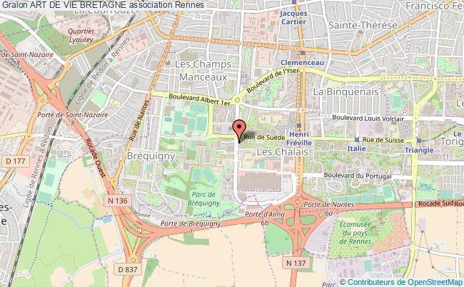 plan association Art De Vie Bretagne Rennes