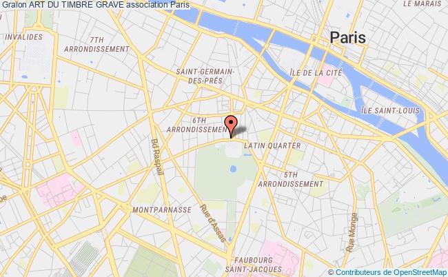plan association Art Du Timbre Grave Paris 15e