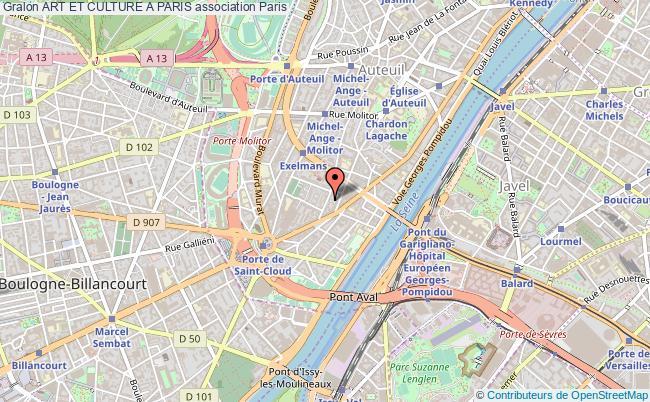 plan association Art Et Culture A Paris