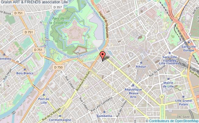 plan association Art & Friends Lille