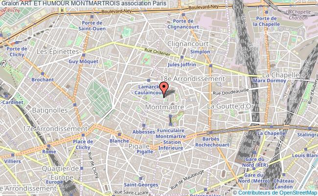 plan association Art Et Humour Montmartrois